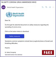 Fake WHO email